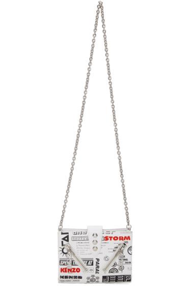 Kenzo - White Flyers Kalifornia Chain Wallet Bag