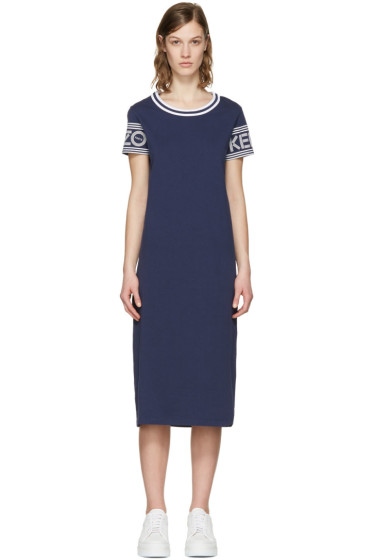 Kenzo - Navy Logo Sleeve Dress