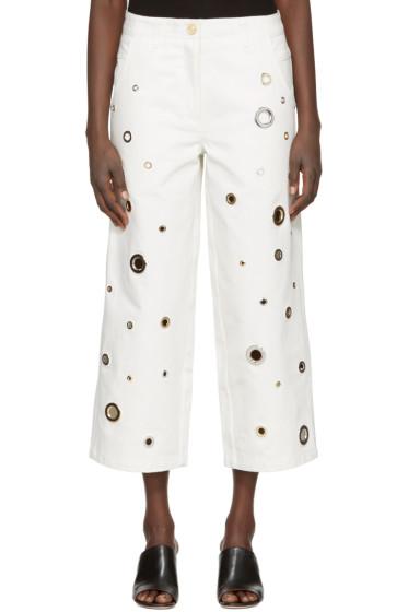 Kenzo - White Eyelet Jeans