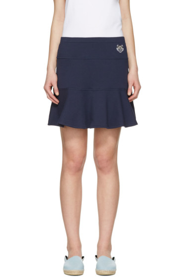 Kenzo - Navy Tiger Crest Miniskirt