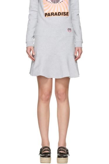 Kenzo - Grey Tiger Crest Miniskirt
