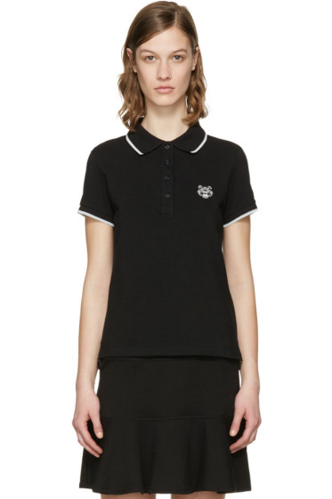 Kenzo - Black Tiger Crest Polo