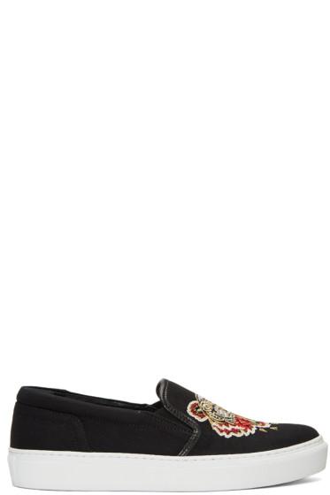 Kenzo -  Black Tiger Skate Slip-On Sneakers
