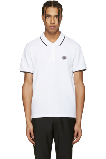 Kenzo - White Tiger Patch Polo