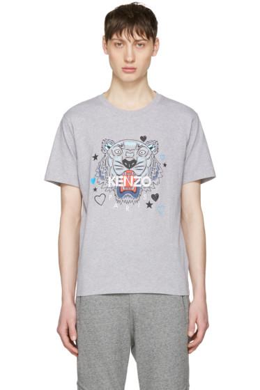Kenzo - Grey Valentines Tiger T-Shirt