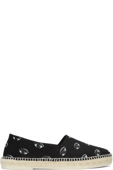 Kenzo - Black Canvas Eyes Espadrilles