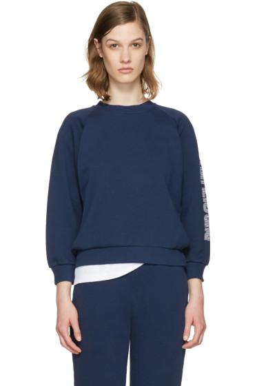 Maison Kitsuné - Blue Logo Sleeve Pullover