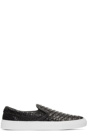Diemme - Black Python Garda Slip-On Sneakers