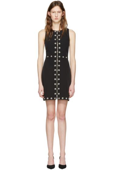 Versus - Black Front Zip Lion Dress