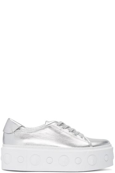 Versus - Silver Lion Platform Sneakers