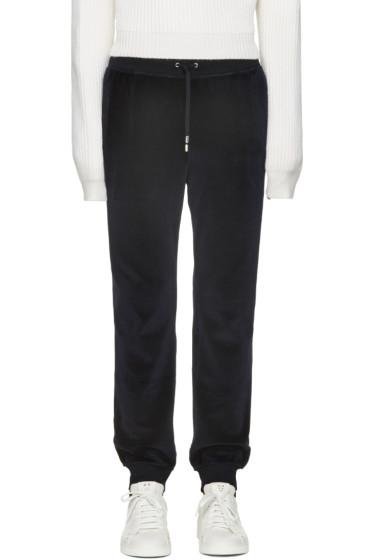 Versace - Navy Velour Lounge Pants