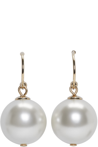 Simone Rocha - Ivory Little Pearl Drop Earrings
