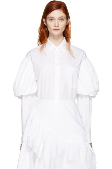 Simone Rocha - White Puff Sleeves Shirt