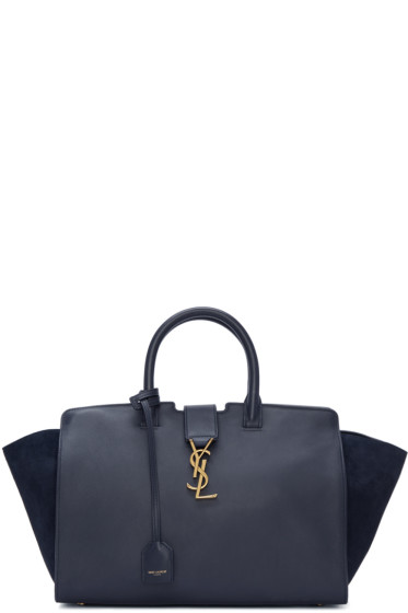 Saint Laurent - Navy Small Cabas Monogram Bag