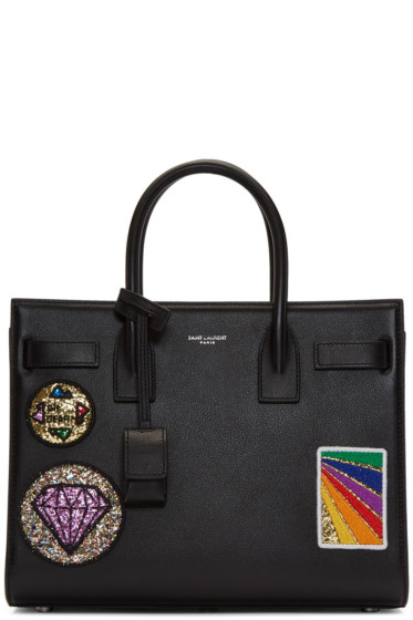 Saint Laurent - Black Multi-Patch Sac De Jour Tote