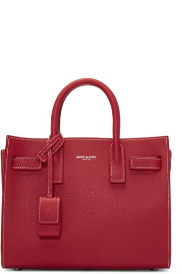 Saint Laurent - Red Nano Sac de Jour Tote