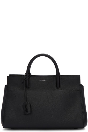 Saint Laurent - Black Small Cabas Rive Gauche Tote