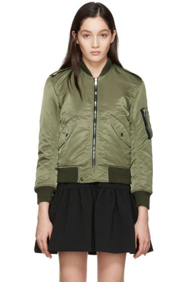 Saint Laurent - Green Aviator Bomber Jacket