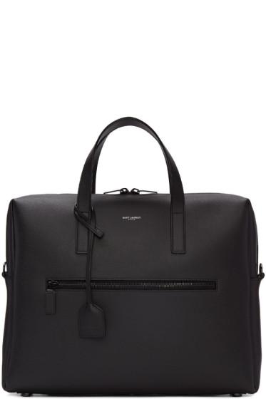 Saint Laurent - Black Leather Briefcase