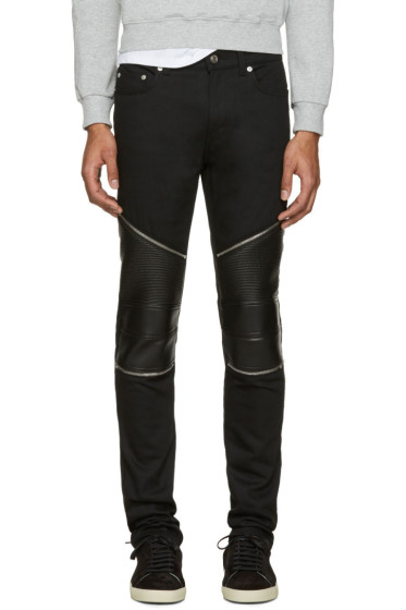 Saint Laurent - Black Low Waisted Skinny Biker Jeans