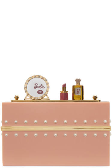Charlotte Olympia - Pink Barbie Edition 'Barbie World' Clutch