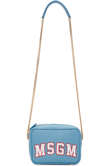MSGM - Blue Logo Shoulder Bag