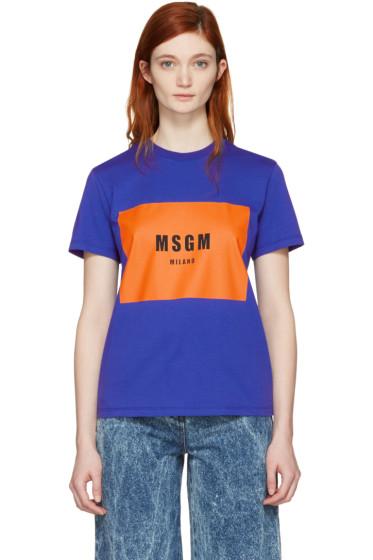 MSGM - Blue Logo T-Shirt