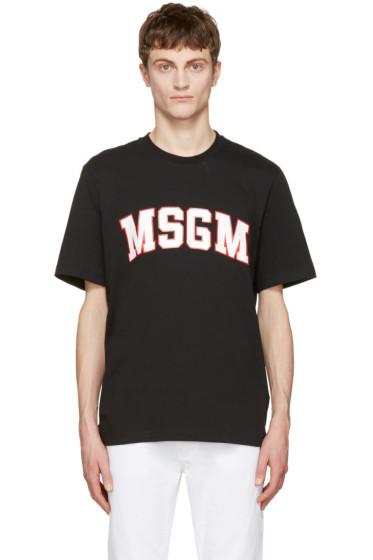 MSGM - Black Logo T-Shirt