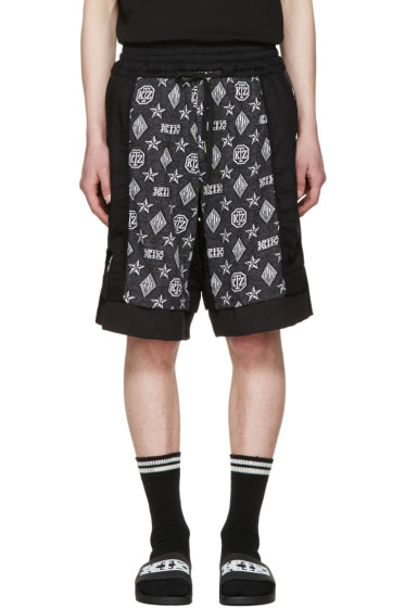KTZ - Black Inside Out Monogram Shorts