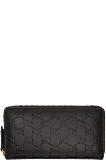 Gucci - Black Signature Logo Wallet