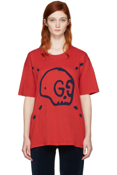 Gucci - Red GucciGhost T-Shirt