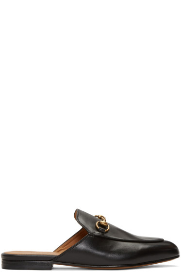 Gucci - Black Princetown Slip-On Loafers