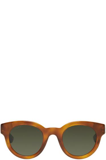 Gucci - Tortoiseshell Round Sunglasses
