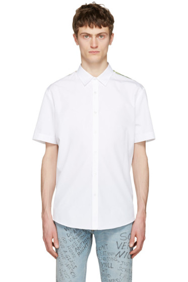 Gucci - White Silk Panel Shirt
