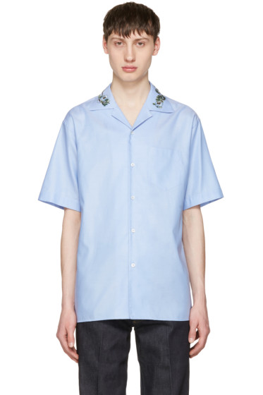 Gucci - Blue Floral Bowling Shirt