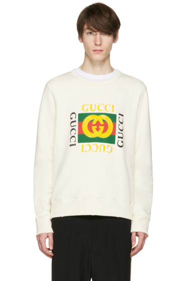 Gucci - Ivory Logo Pullover