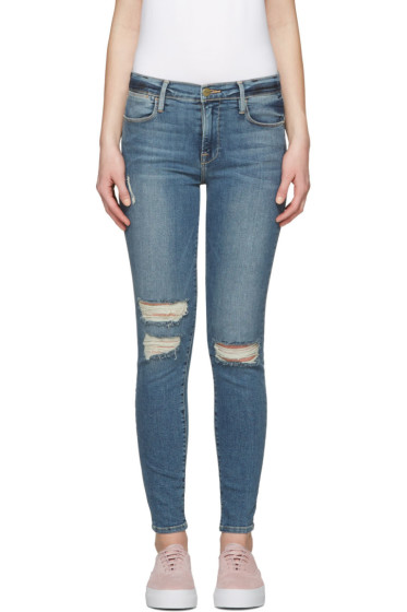 Frame Denim - Indigo Le High Skinny Jeans