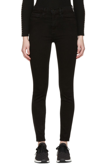 Frame Denim - Black Le High Skinny Jeans