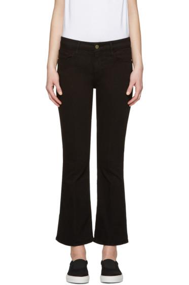Frame Denim - Black Le Crop Mini Boot Jeans