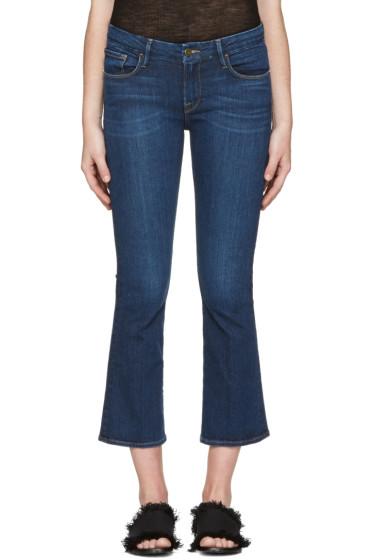 Frame Denim - Indigo Crop Mini Boot Jeans