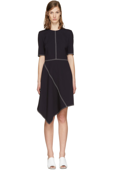 Stella McCartney - Navy Wool Stitching Dress