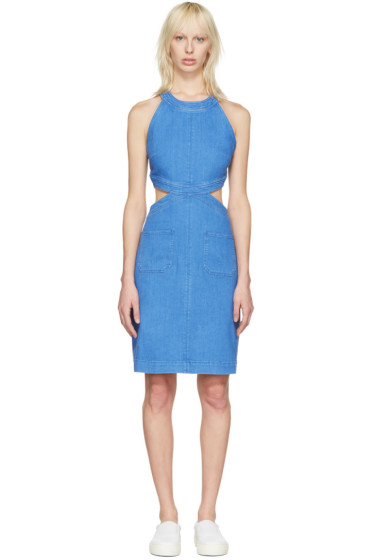 Stella McCartney - Blue Denim Cut-Out Dress