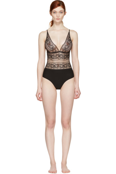 Stella McCartney - Black Ophelia Whistling Bodysuit
