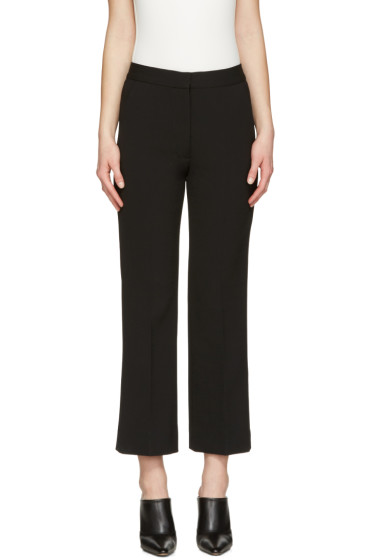 Stella McCartney - Black Crop Flare Trousers