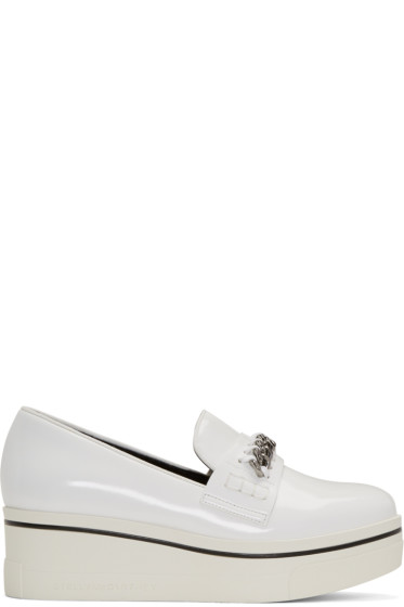 Stella McCartney - White Binx Loafers