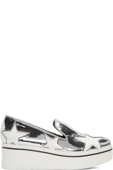Stella McCartney - Silver Star Platform Binx Sneakers