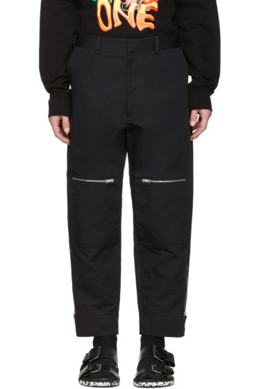 Stella McCartney - Black Zip Pocket Wide-Leg Trousers