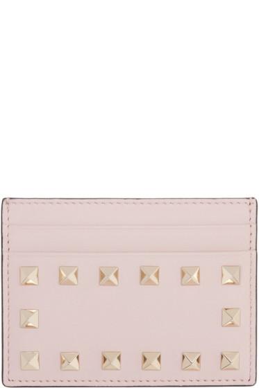 Valentino - Pink Rockstud Card Holder