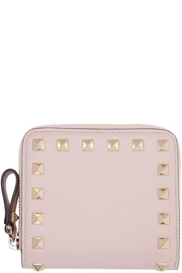 Valentino - Pink Small Rockstud Wallet
