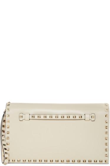 Valentino - Ivory Rockstud Clutch